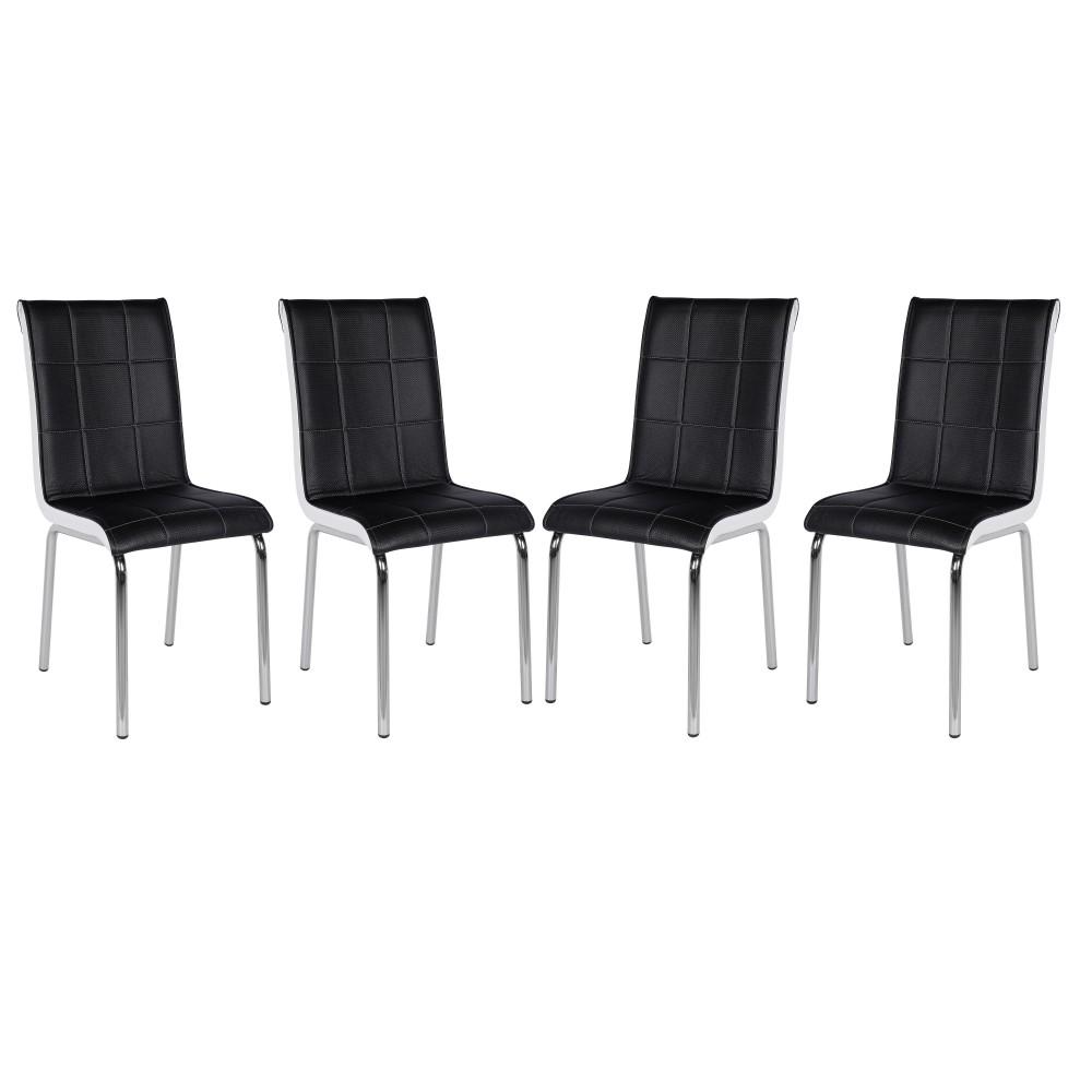 Set 4 scaune pedli negre
