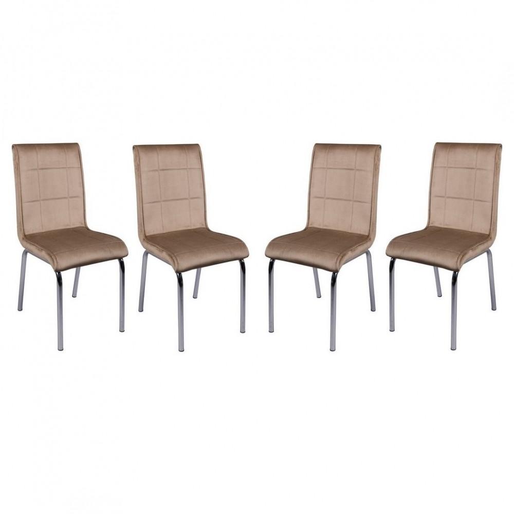 Set 4 scaune Pedli vizon  material textil