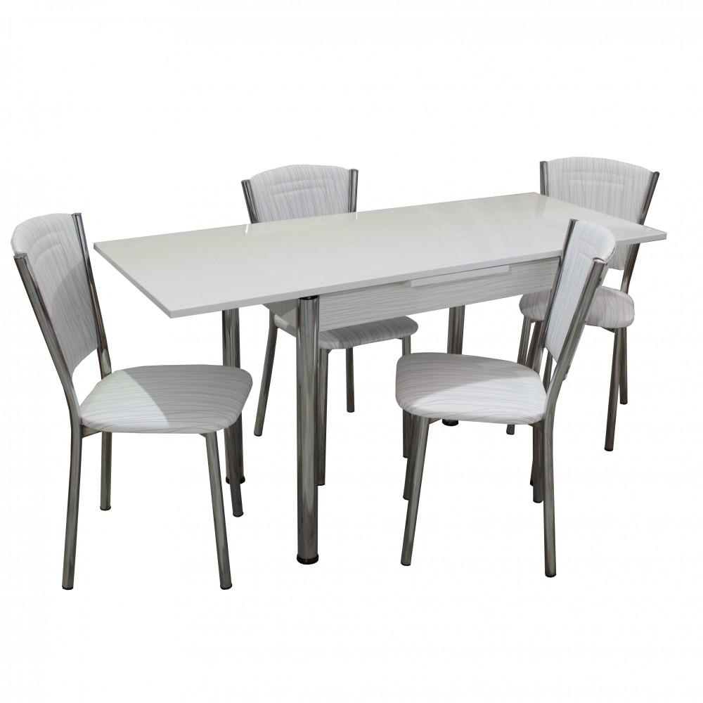 Set masa extensibila 90 x 60 Matrix cu 4 scaune Efes