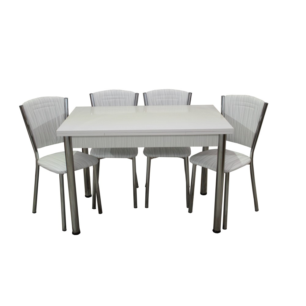 Set masa extensibila 110 x 70 Matrix cu 4 scaune Efes