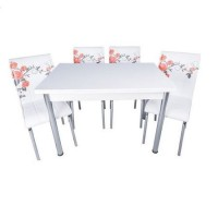 Set masa extensibila 110 x70 cu 4 scaune Pedli trandafiri rosii