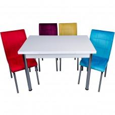 Set masa extensibila alba cu 4 scaune Pedli karma