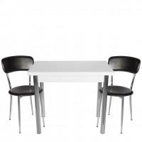 Set masa extensibila 90x60 cu 2 scaune Tipo negre
