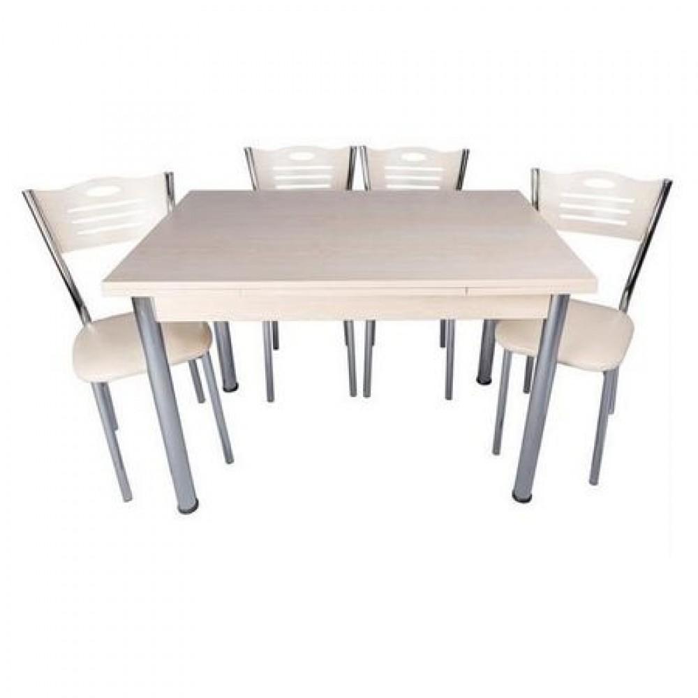Set masa extensibila 90x60 mini Akca cu 4 scaune eco Akca