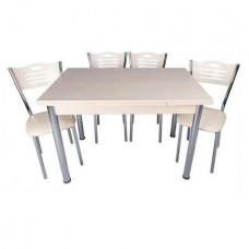 Set masa extensibila Akca 110x 70 cu 4 scaune eco Akca