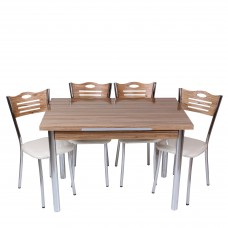 Set masa extensibila Samba cu 4 scaune eco Samba