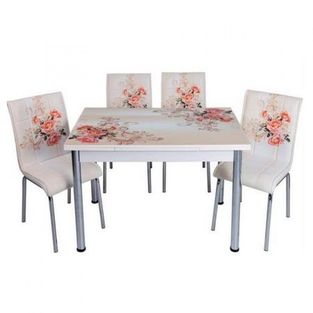 Set masa extensibila cu 4 scaune Gulpembe